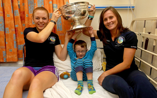 Jason Harper with Joanne Casey and Aoife Murray