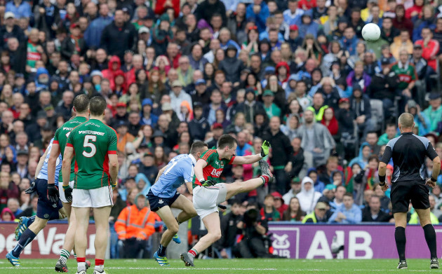 Cillian O'Connor scores the equalising point