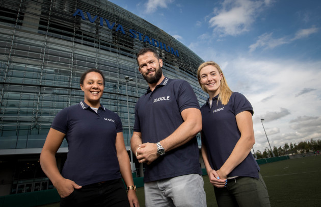 Sophie Spence, Andy Farrell and Natalya Coyle
