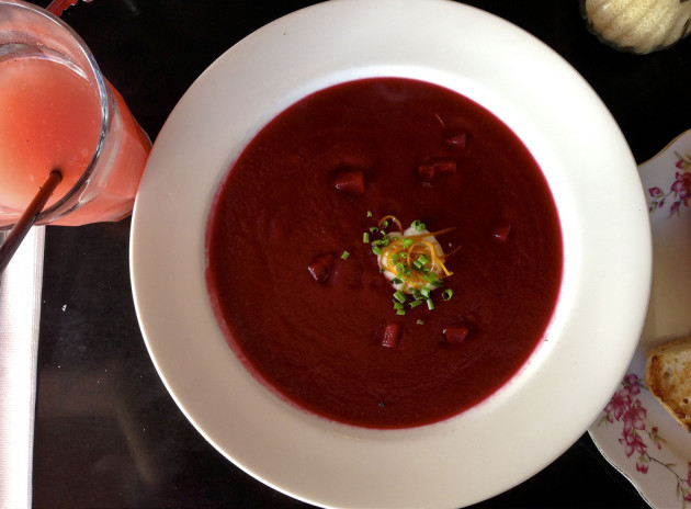 130407 Day 291 Beetroot soup, Mrs S