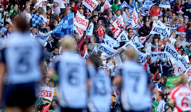 General view of fans with TG4 flags