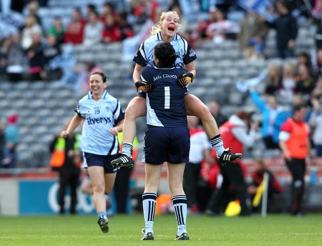 Maria Kavanagh celebrates with Cliodhna O'Connor
