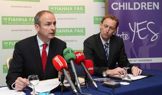 Fianna Fail Yes in Children's Referendum