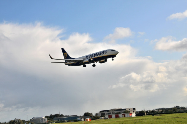 Attérissage d'un avion de Ryanair à Dublin