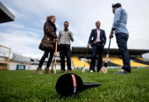 General view of a Sky Sports Microphone at Nowlan Park