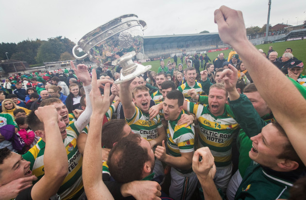 Carbery Rangers celebrate with the trophy
