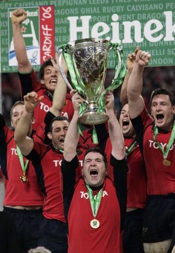 Anthony Foley raises the Heineken Cup