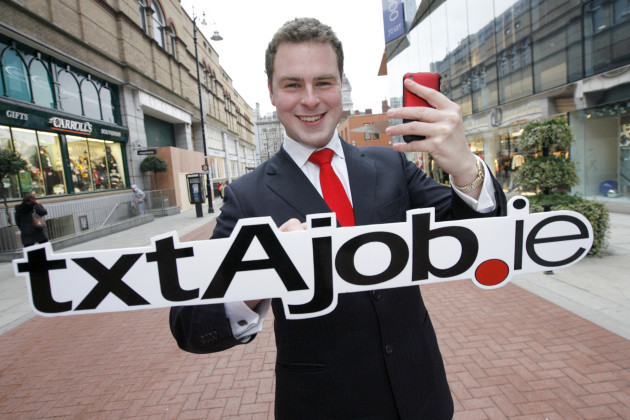 Launch of txtajob.ie. Beat the Recession at txtajob.ie! More than 1,300 job vacancies available at txtAjob.ie. Pictured is Apprentice star Breffny Morgan at the launch of txtajob.ie, a new mobile and online platform which provides