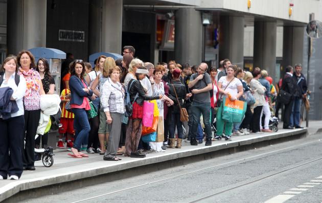 6/8/2013. Third day of Dublin Bus Strikes