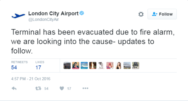 London City Airport evacuated in 'chemical incident'
