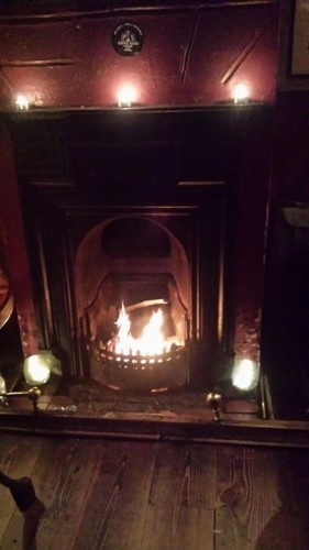 Ta dah! First fire of the season! As no one ...