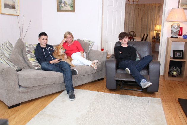 Single Mum Eva and her two sons James and Alex live in Monaleen