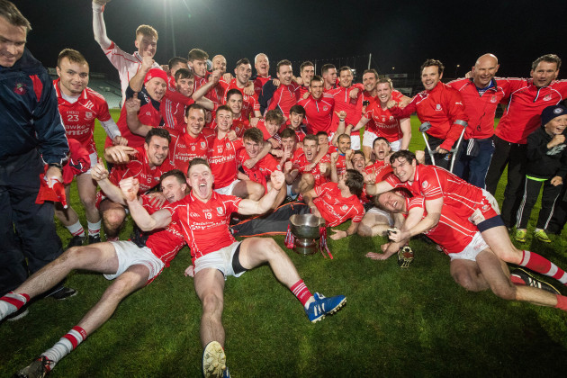 Monaleen celebrate winning The Limerick Senior Club Football Championship