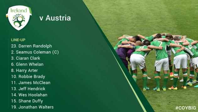 Ireland team latest