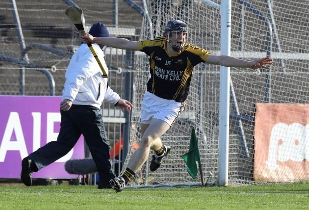 Pearse Lillis celebrates scoring a goal