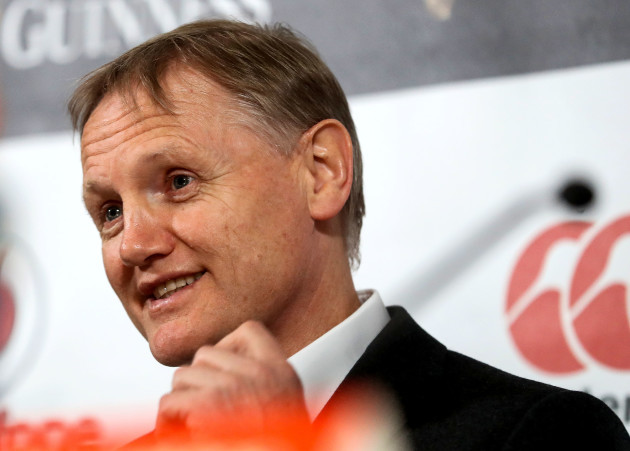 Joe Schmidt at the press conference  19/11//2016