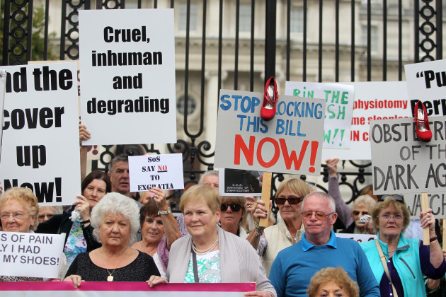 11/9/2014 Survivors of Symphysiotomy Protests