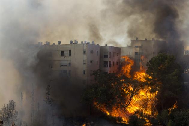 Mideast Israel Fire