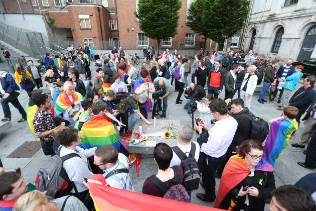 13/6/2016. Irish LGBT Vigils
