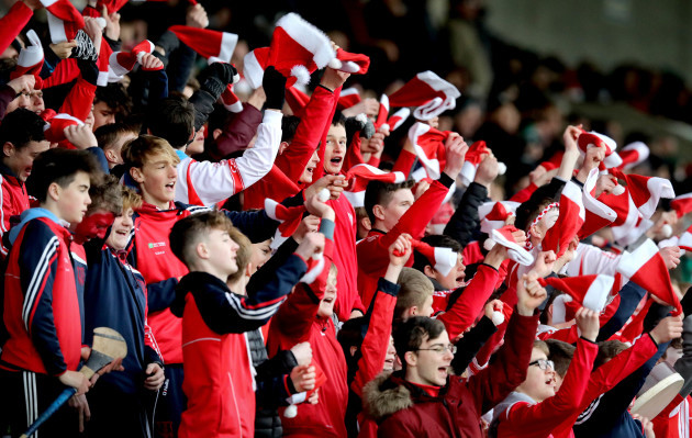 Cuala fans cheers on their team