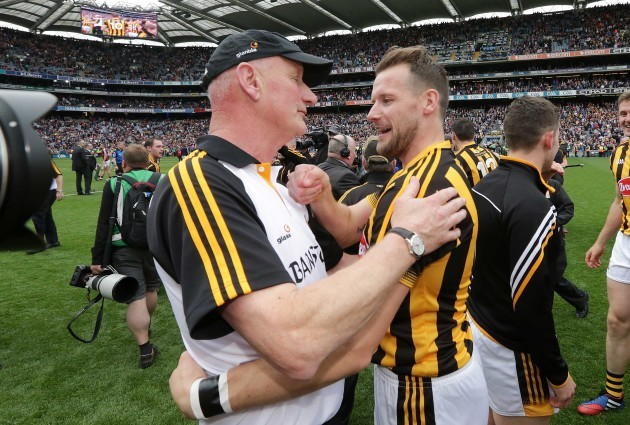 Brian Cody celebrates with Jackie Tyrrell