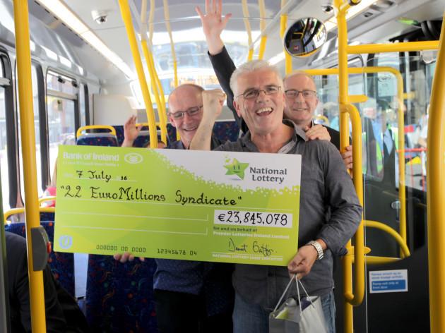 7/7/2016 Dublin Bus Euromillions Winners
