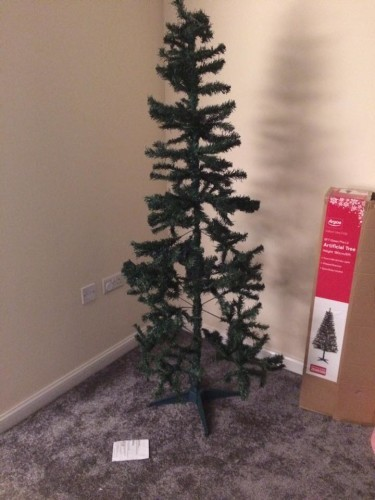 this woman 39 s hilariously rubbish 39 christmas tree 39 from. Black Bedroom Furniture Sets. Home Design Ideas