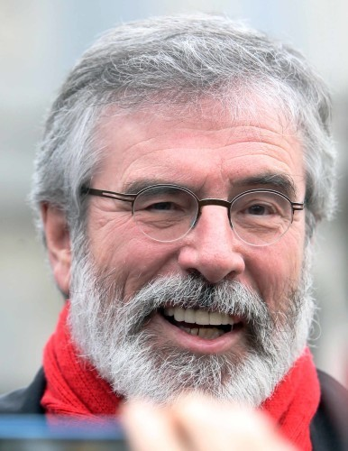 16/12/2014. Gerry Adams Dail Scenes