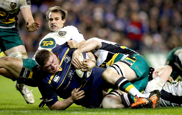 Tadhg Furlong scores their fifth try