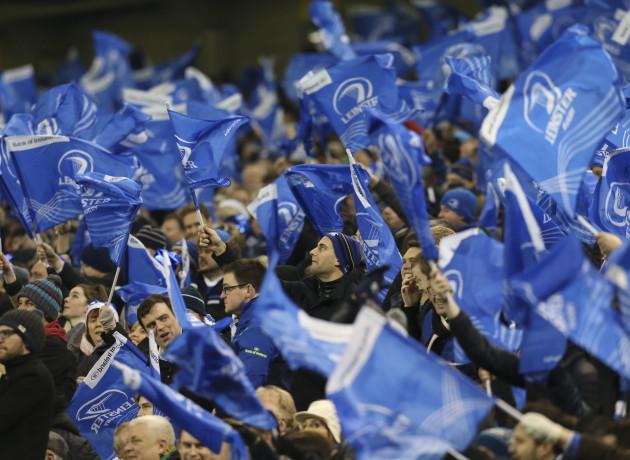 Leinster fans celebrate
