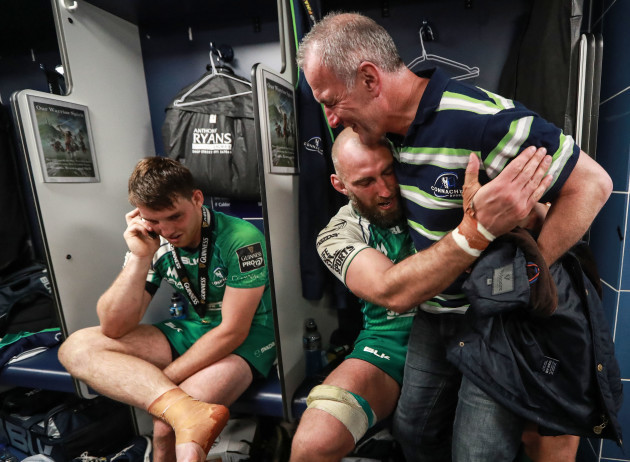John Muldoon celebrates with Eric Elwood