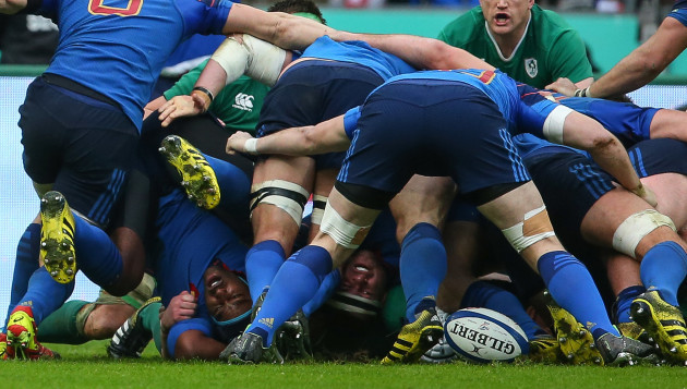 France' scrum general view