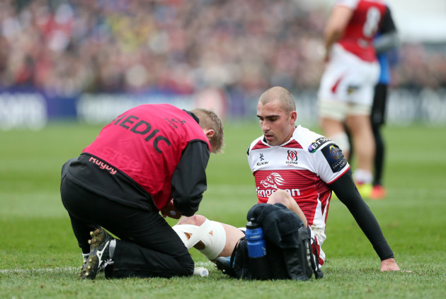 Ruan Pienaar down injured