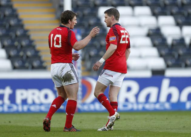 Ian Keatley and Ronan O'Gara