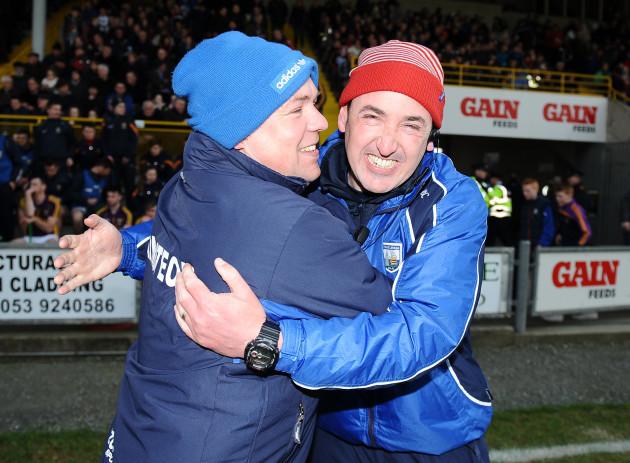Derek McGrath and Fintan O'Connor celebrate