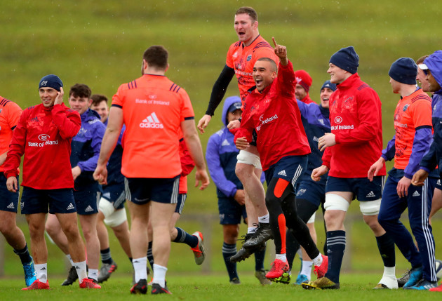 Donnacha Ryan celebrates with Simon Zebo