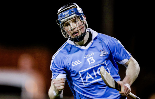 Cian O'Sullivan celebrates scoring the first goal of the game