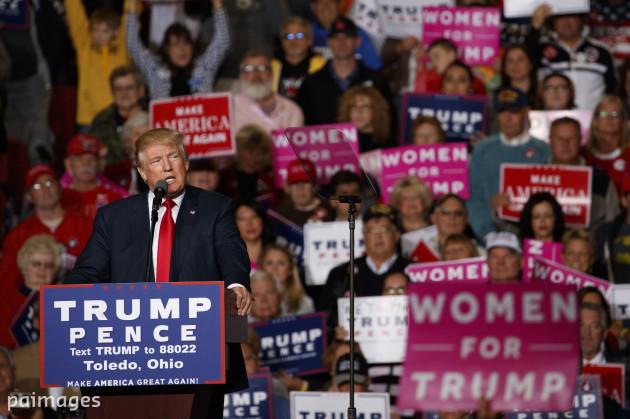 AP Poll Campaign 2016 Trump Woman