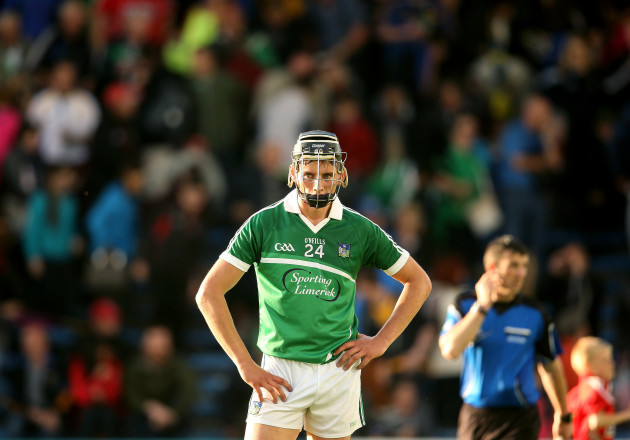 A dejected Gearoid Hegarty
