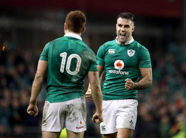 Conor Murray celebrates