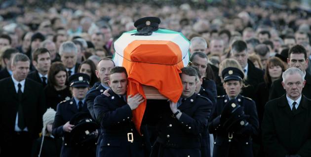 Detective Garda Adrian Donohoe's funeral