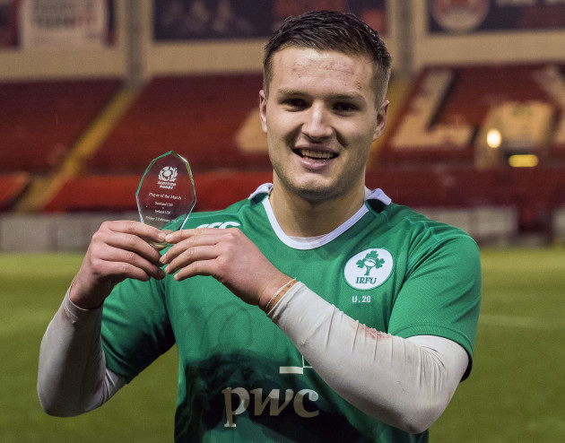 Jonny McPhillips received the man of the match award