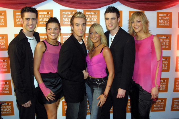 SIX POP STARS METEOR MUSIC AWARDS 2003