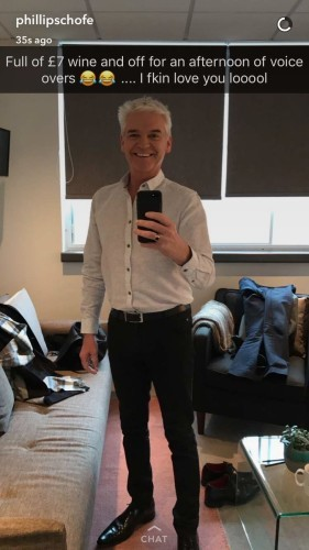 Image result for phillip schofield snapchat