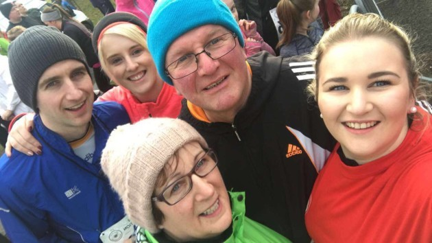 Mairead with her family at the 5K in the Phoenix Park
