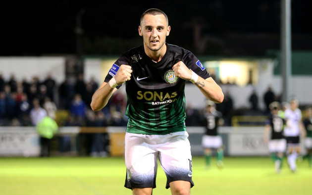 Dylan Connolly celebrates after the game