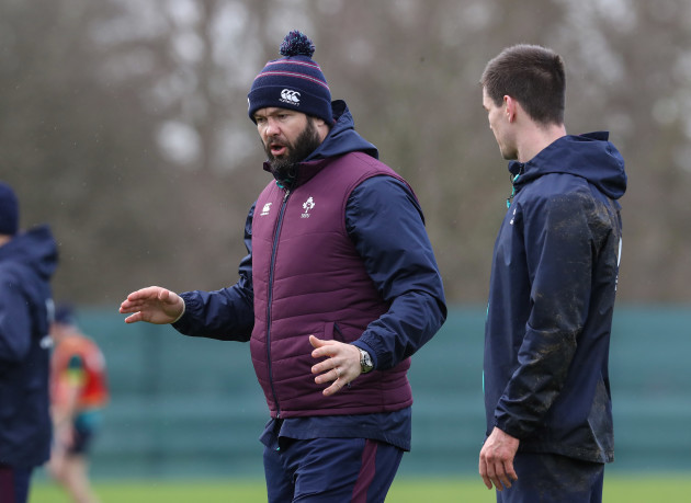 Andy Farrell with Jonathan Sexton