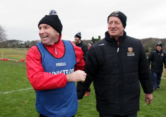 DJ Carey and Michael Dempsey celebrate winning