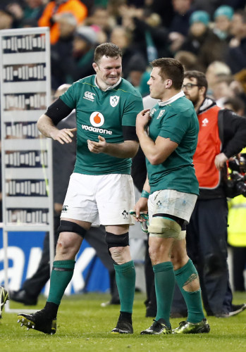 Donnacha Ryan and CJ Stander celebrate winning