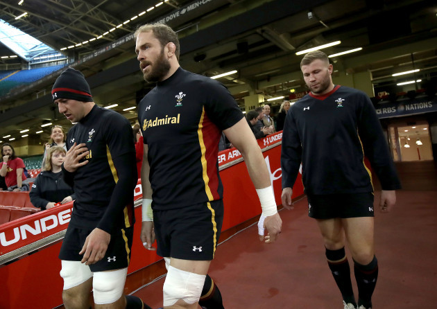 Justin Tipuric Alun Wyn Jones and Ross Moriarty